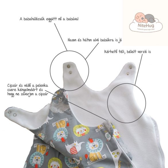 Súlyozott gyerek kamáslis hálózsák - 92-98-as